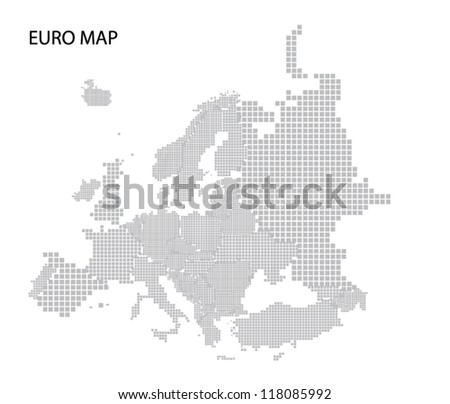 Vector map of Europe with editable countries - stock vector