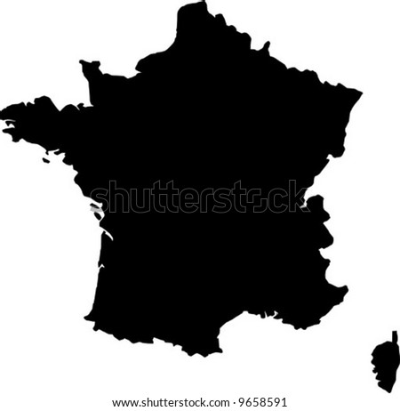 vector map of france - stock vector