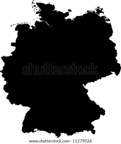 vector map of germany - stock vector