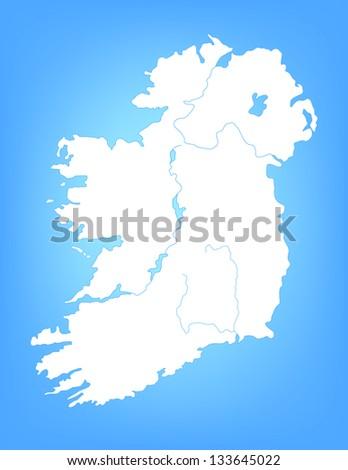 Ireland Map With Cities.Vector Map Ireland Cities Stock Vector 133645022 Shutterstock
