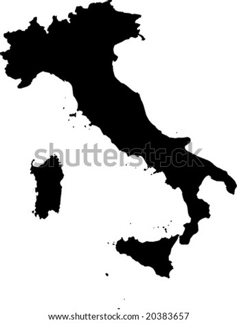 vector map of Italy - stock vector