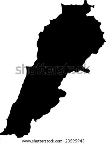 vector map of lebanon - stock vector