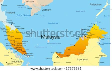 Vector map malaysia country vectores en stock 17373361 shutterstock vector map of malaysia country gumiabroncs Choice Image