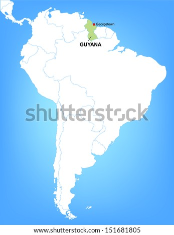 Vector map south america highlighting country stock vector 151681805 vector map of south america highlighting the country of guyana illustrator 8 gumiabroncs Image collections