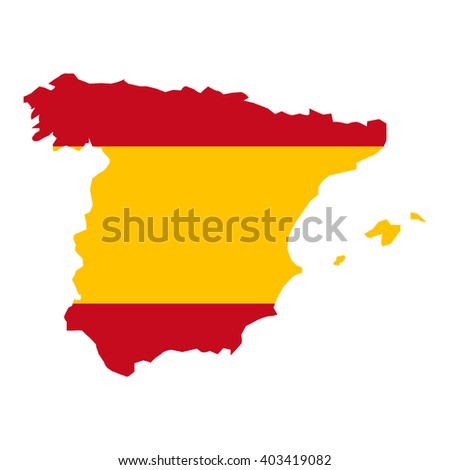 vector map of Spain
