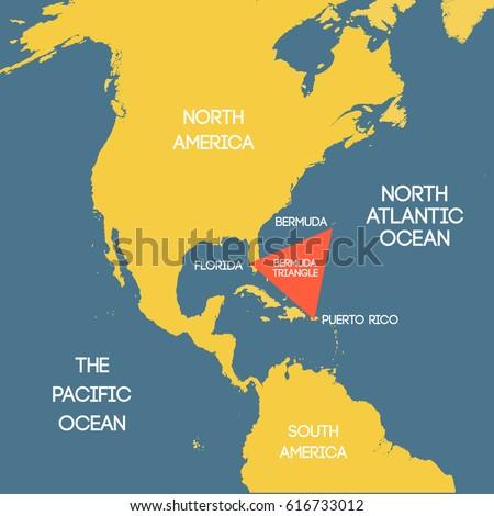 Vector map bermuda triangle vectores en stock 616733012 shutterstock vector map of the bermuda triangle gumiabroncs Gallery