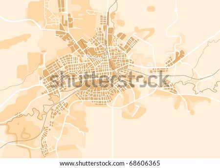 Vector map of the city. Decorative background vector illustration EPS-8. - stock vector