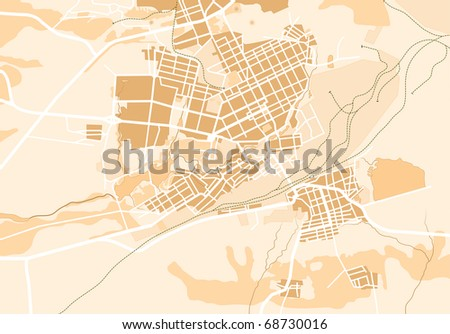 Vector Map of The City 2. Decorative background vector illustration EPS-8.