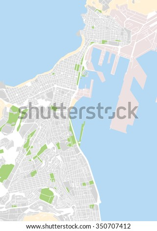 Vector Map City Las Palmas De Stock Vector 2018 350707412