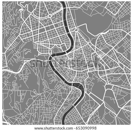 Vector Map City Rome Italy Stock Vector (Royalty Free) 653090998 ...