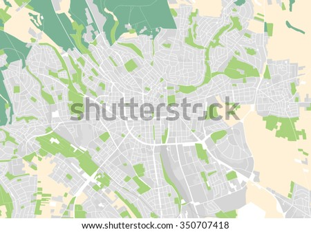 Vector Map City Wiesbaden Germany Stock Vector 350707418 Shutterstock