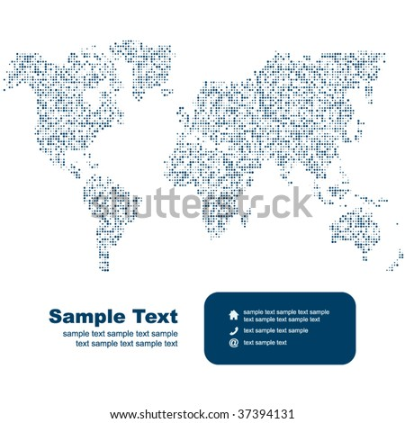 Vector map of the world. Business background. - stock vector
