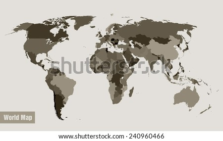 vector map of the world divided by country - stock vector