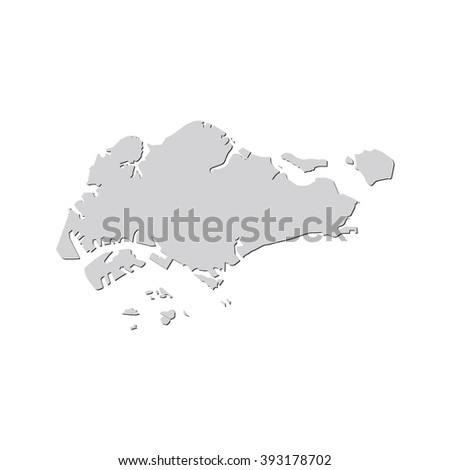 Vector Map Singapore Isolated Vector Illustration Stock Vector