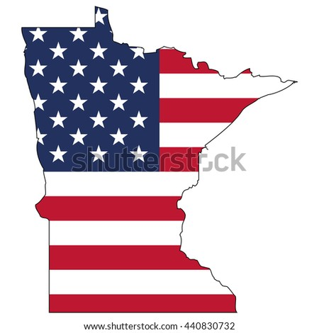 Vector Map Us Flag Inside Wisconsin Stock Vector - Us map with glag