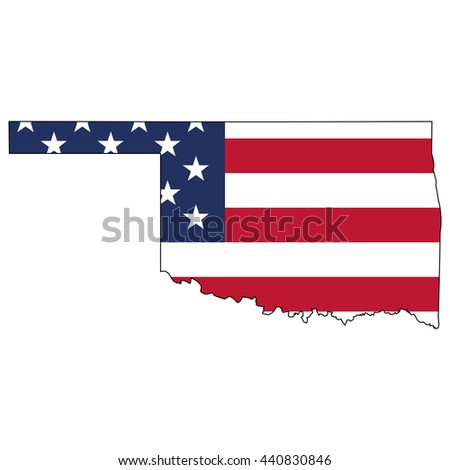 Vector Map Us Flag Inside North Stock Vector Shutterstock - Us flag map