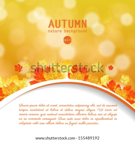 Vector maple autumn leaves background. - stock vector