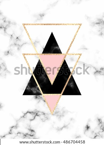 Vector Marble Background Triangles Geometric Print Stock