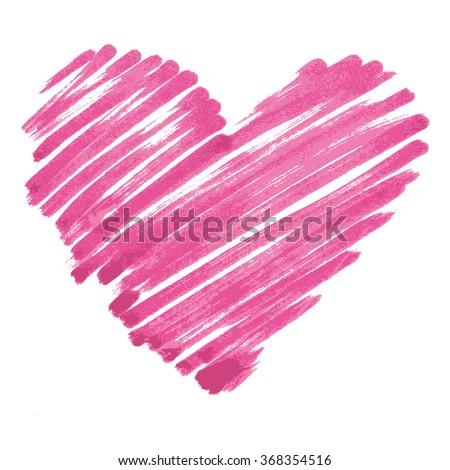 vector marker heart - stock vector