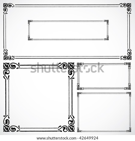 Vector Matching Frame Set - stock vector