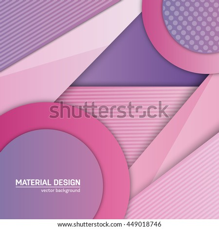 Vector material background. Abstract creative concept layout template