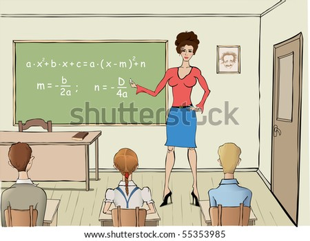 vector Maths classes - stock vector