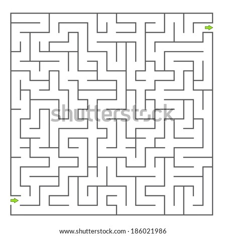 Vector maze - stock vector