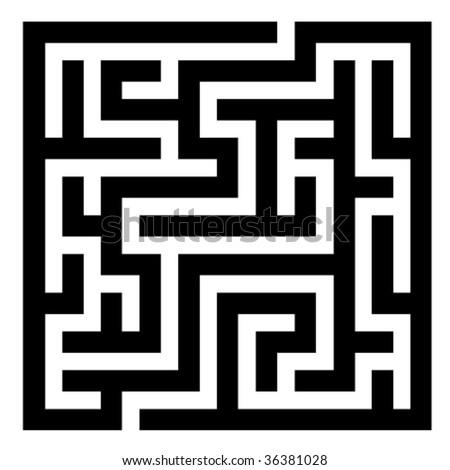vector maze - stock vector