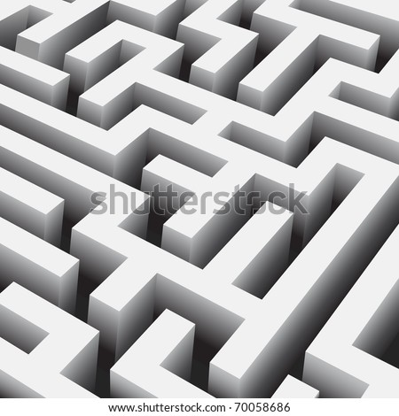 vector maze close up - stock vector