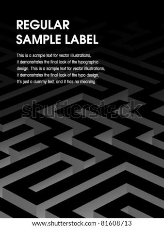 Vector Maze Design - stock vector