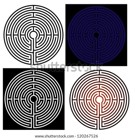 vector maze - labyrinth - stock vector