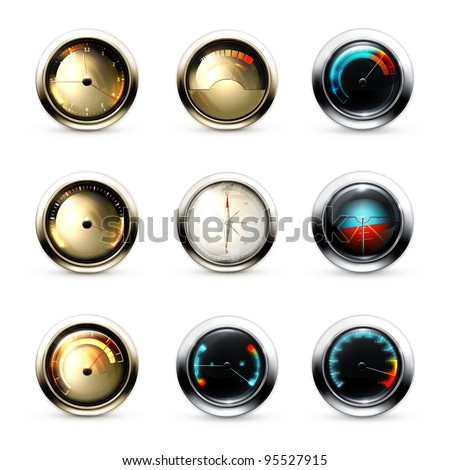 Vector Measuring Devices, set - stock vector