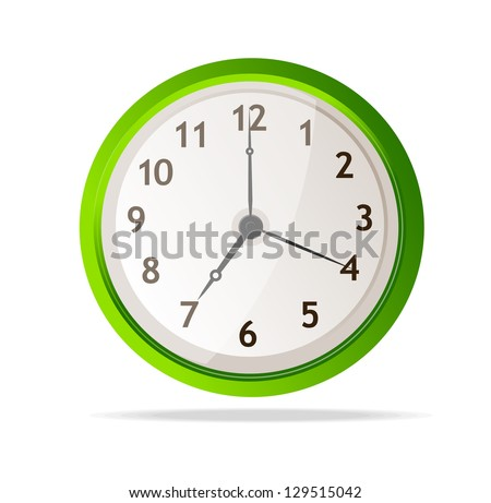 vector mechanical clock - stock vector