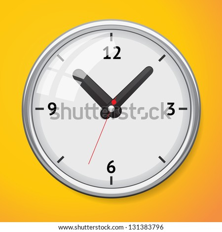 Vector mechanical clock. Clock icon - stock vector