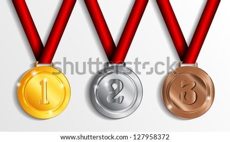 Vector medals - stock vector
