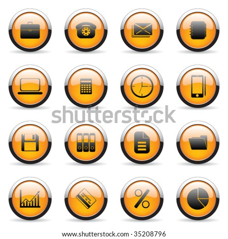 Vector media and web icon set
