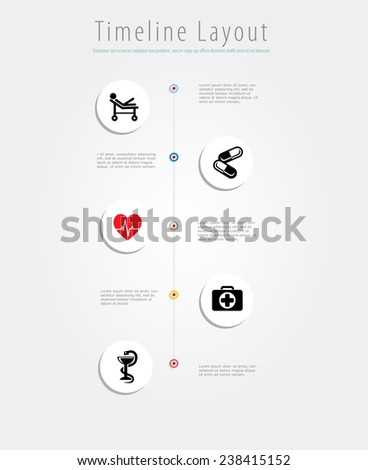 Vector medic infographic composition. - stock vector