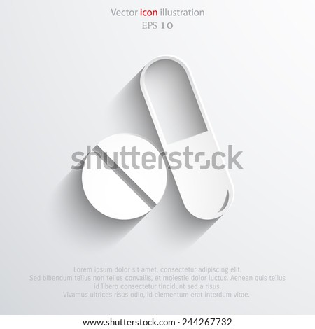 Vector medical drugs web icon Eps10. - stock vector
