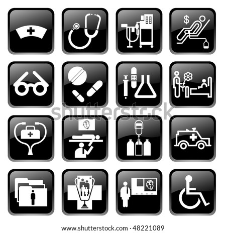 Vector medical icons - stock vector