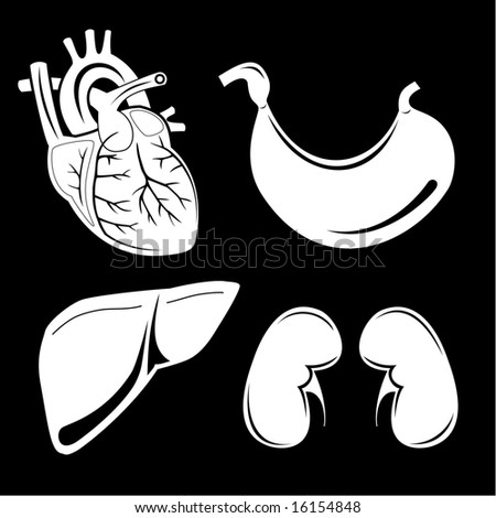 Vector medical icons. Black and white. Simply change. Other medical icons you can see in my portfolio. - stock vector