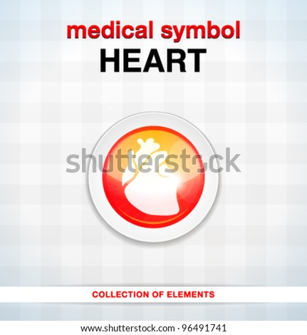 Vector medical icons / heart / series of icons - stock vector