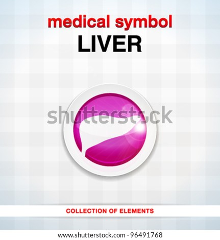 Vector medical icons / liver / series of icons - stock vector