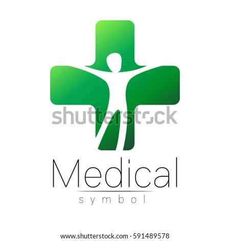 Vector Medical Sign Logo Cross Symbol Stock Vector 591489578