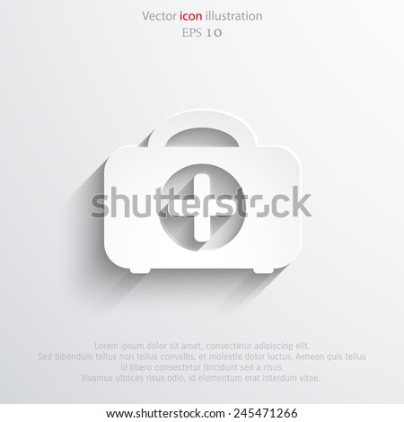 Vector medicine case flat icon. Eps 10. - stock vector