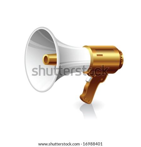Vector megaphone - stock vector