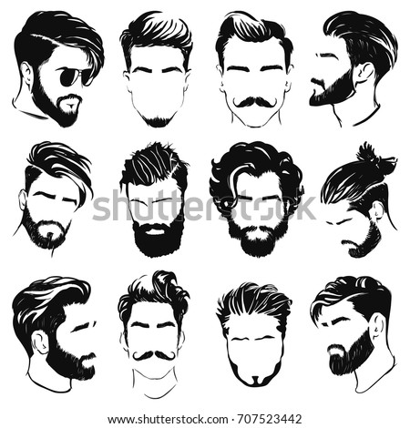 Hairstyle Stock Images, Royalty-Free Images & Vectors ...  Men Hair Clipart