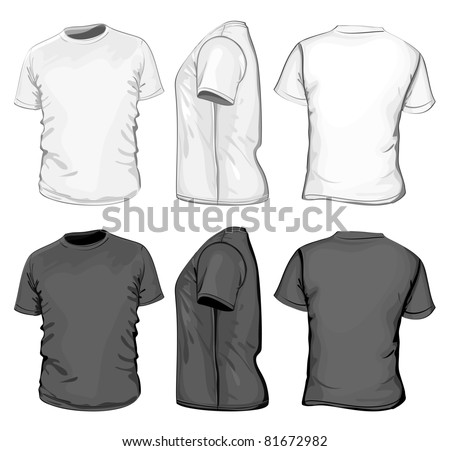 Vector mens tshirt design template front stock vector 81672982 mens t shirt design template front back and side view pronofoot35fo Gallery