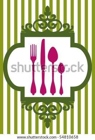 Vector menu of restaurant card - stock vector