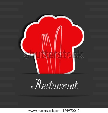 Vector menu restaurant card - stock vector
