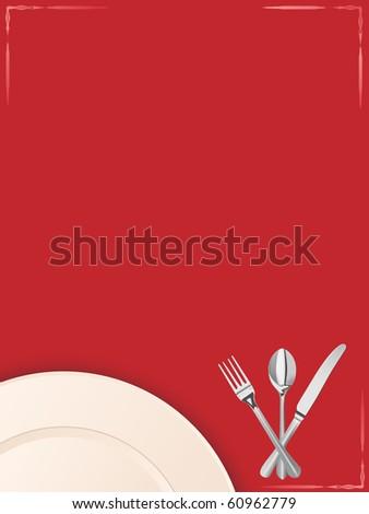 vector menu template with place for your text - stock vector